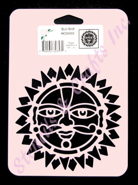 Sun stencil god face celestial stencils flexible craft for Arts and crafts stencils craftsman