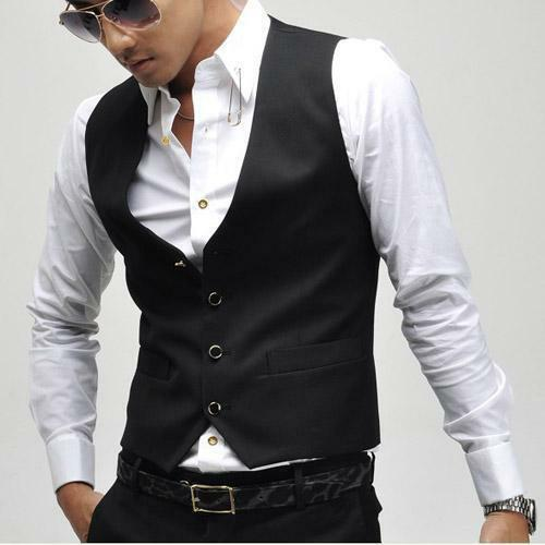 gilet costume homme l gant blazer fit col v veste costume. Black Bedroom Furniture Sets. Home Design Ideas