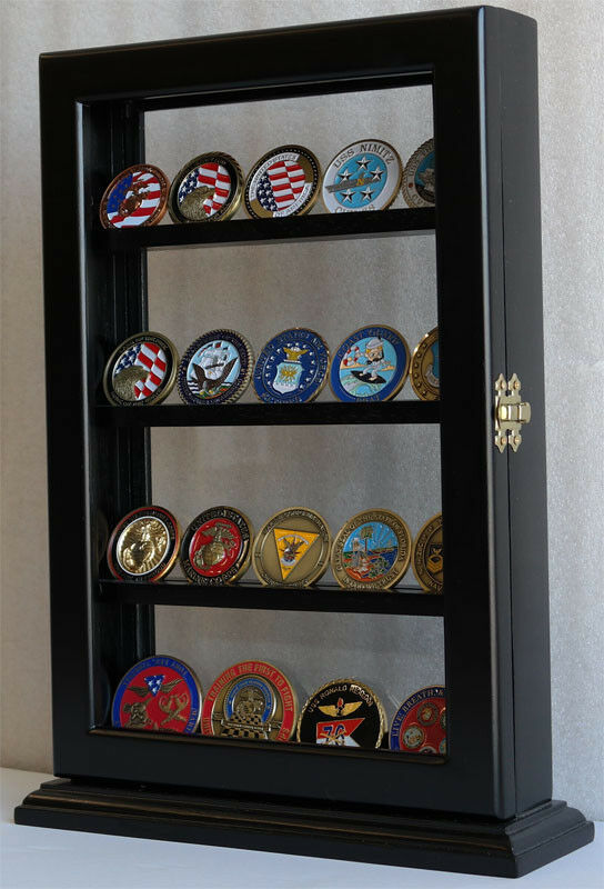 Display Shelves For Collectibles >> 4 Shelves Military Challenge Coin Stand Counter Top ...