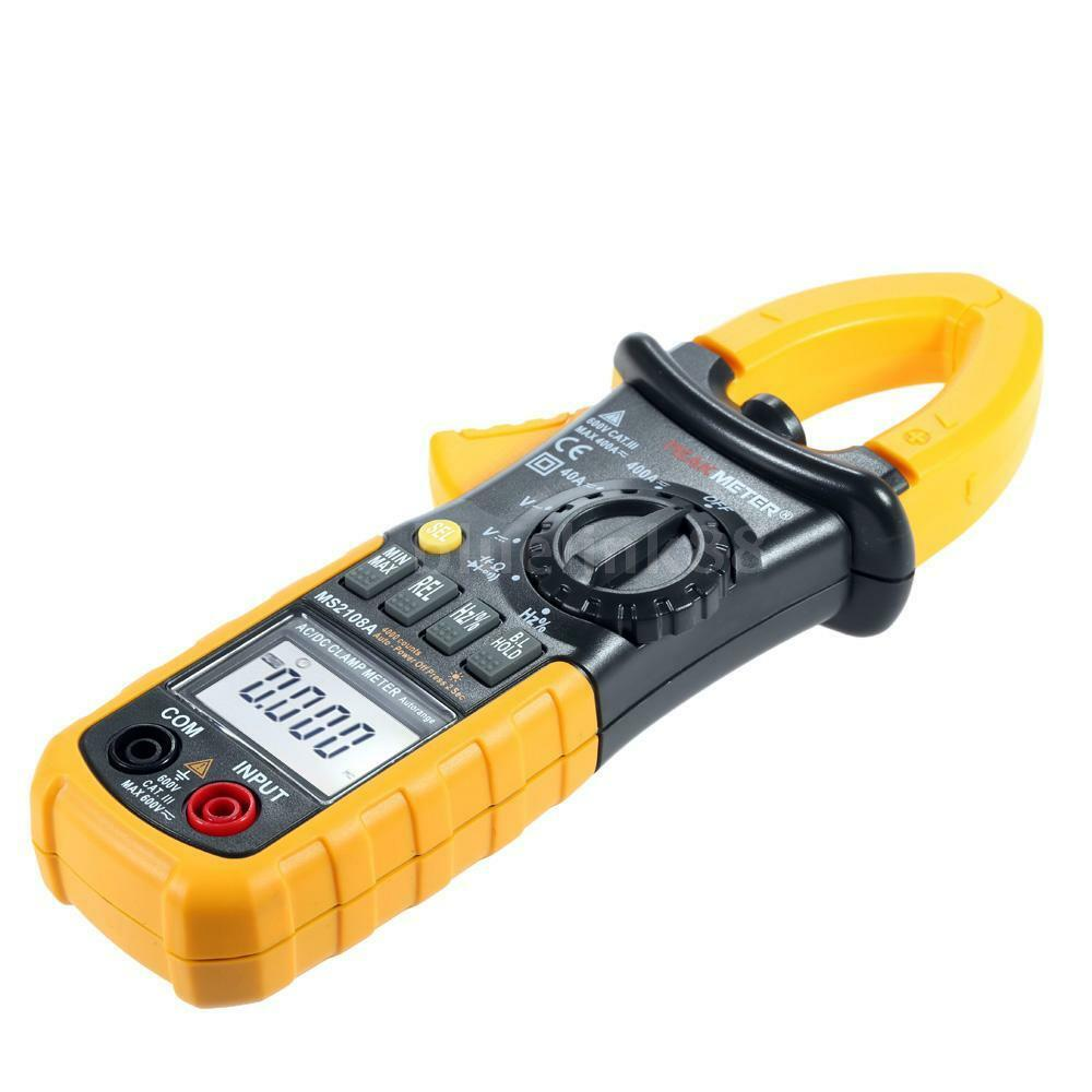 Voltage Clamp Meter : Digital electronic ac dc current clamp meter multimeter