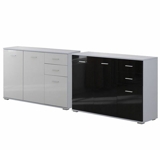 Cabinet sideboard cupboard buffet solo high gloss chest 3 for Sideboard 90 x 60