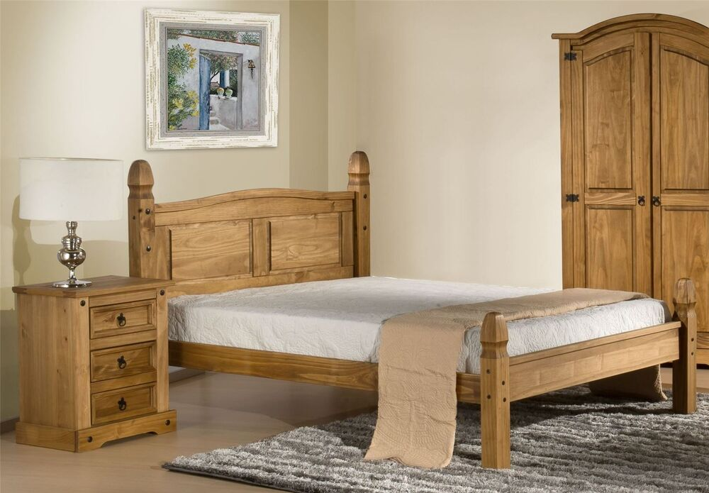 Corona Mexican Solid Pine Low Foot End 150cm Bedstead 5ft