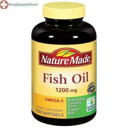 Nature made fish oil 1200 mg softgels 100ct ebay for Omega fish oil advanced support
