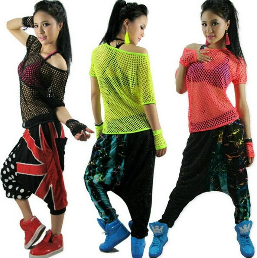 New fashion hollow out hip hop women top dance female for Costume t shirts online