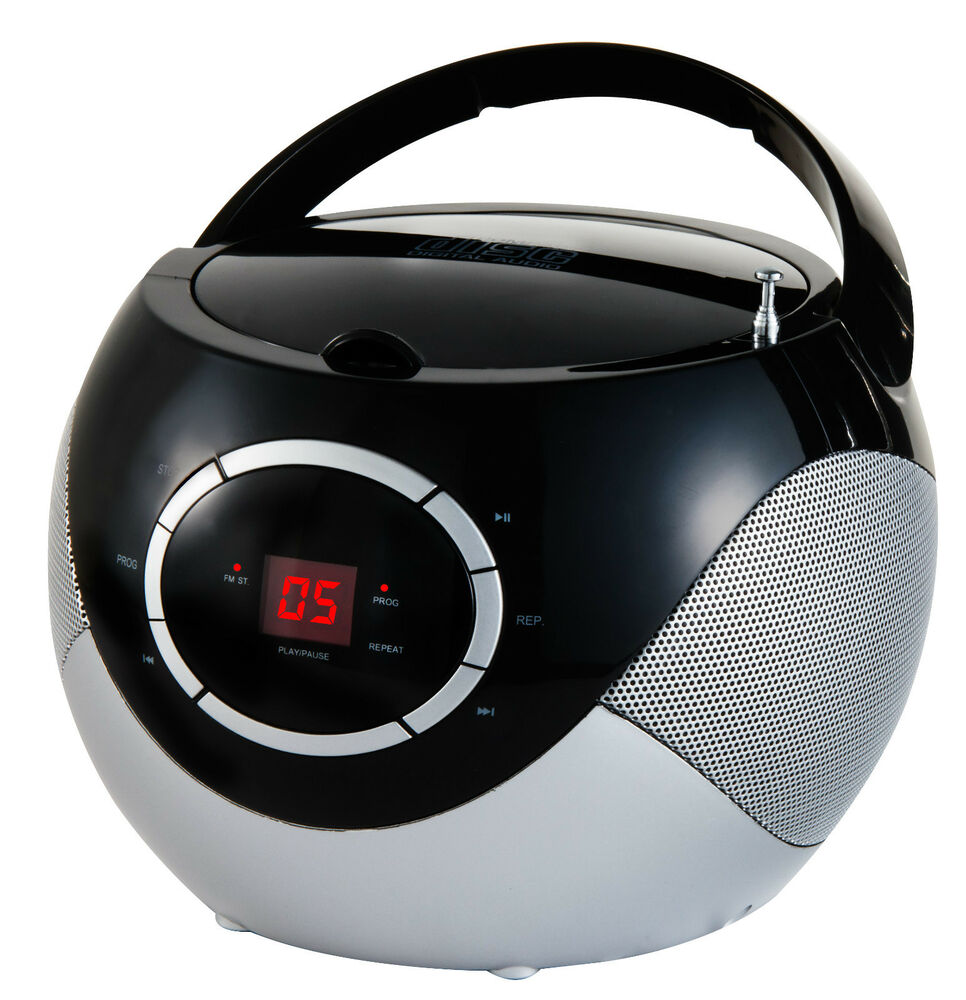tragbarer cd player radio boombox musikanlage tragbares. Black Bedroom Furniture Sets. Home Design Ideas