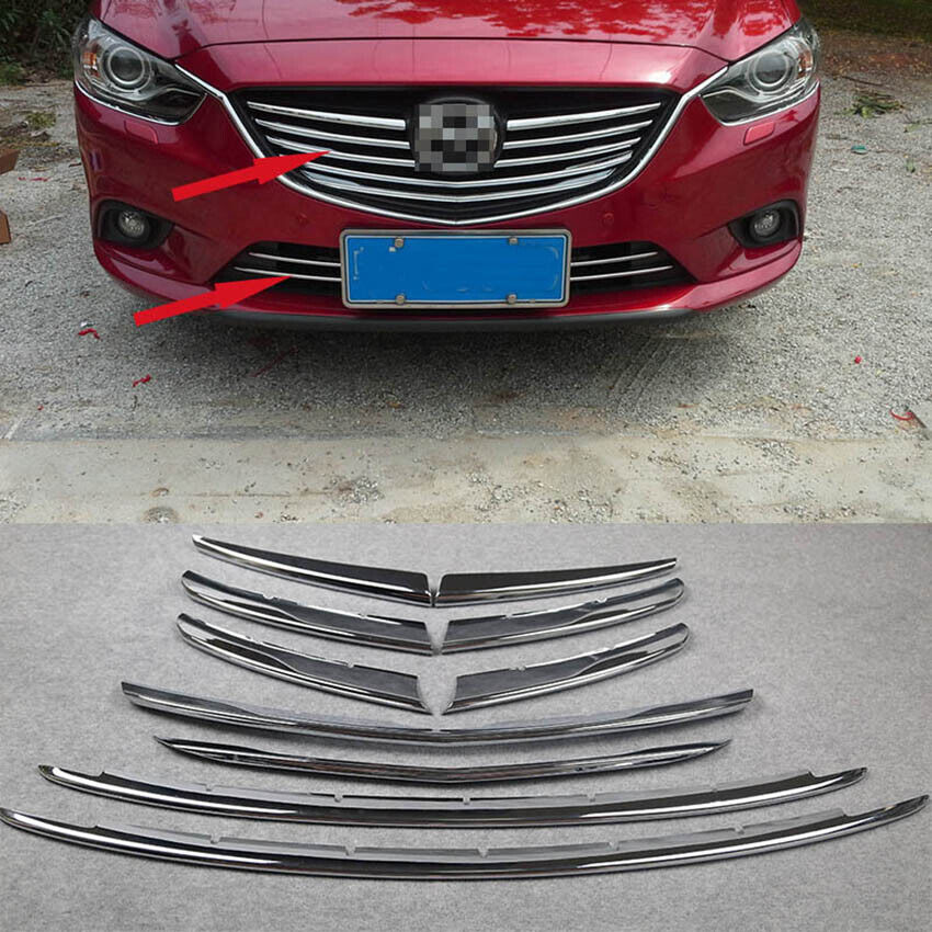 2005 Mazda Mazda6 Exterior: 10PCS Chrome Front Grill Cover Trim Fit For 2014 2015