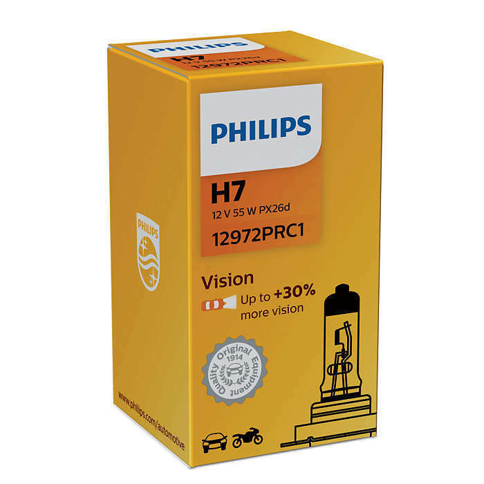 2x Philips H7 Vision 12972prb1 Plus 30 Light 2 Bulbs Ebay
