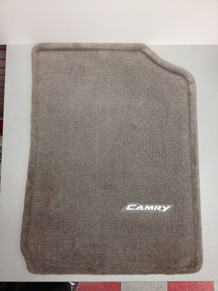 Genuine toyota 2007 2011 camry carpet floor mats brown for Original toyota floor mats