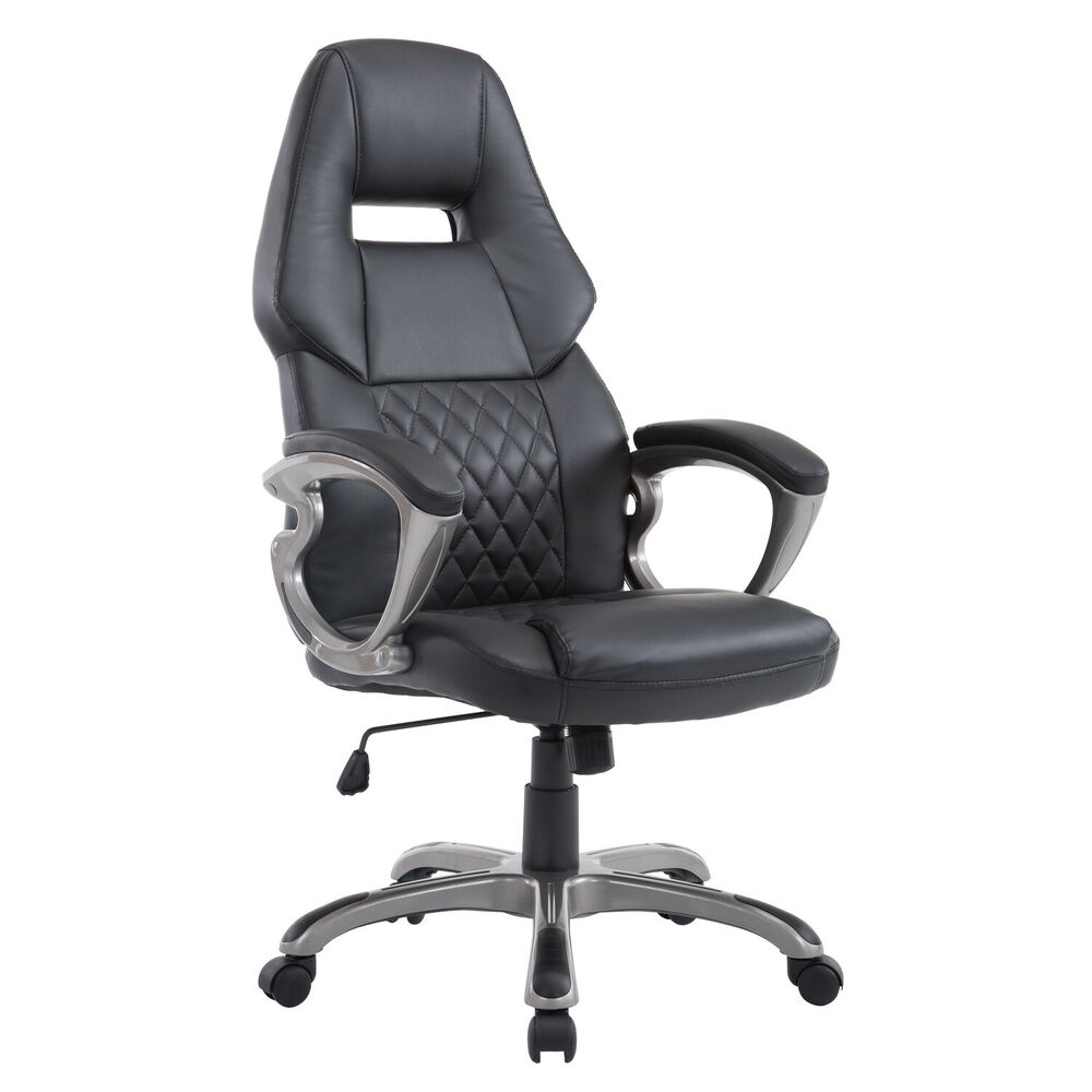 computer office racing seat executive chair faux leather