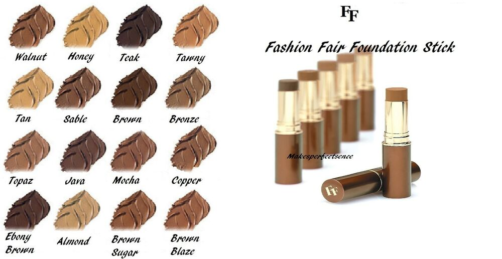 Details About Fashion Fair Fast Finish Foundation Stick Orted Colors New In Box Rare Item