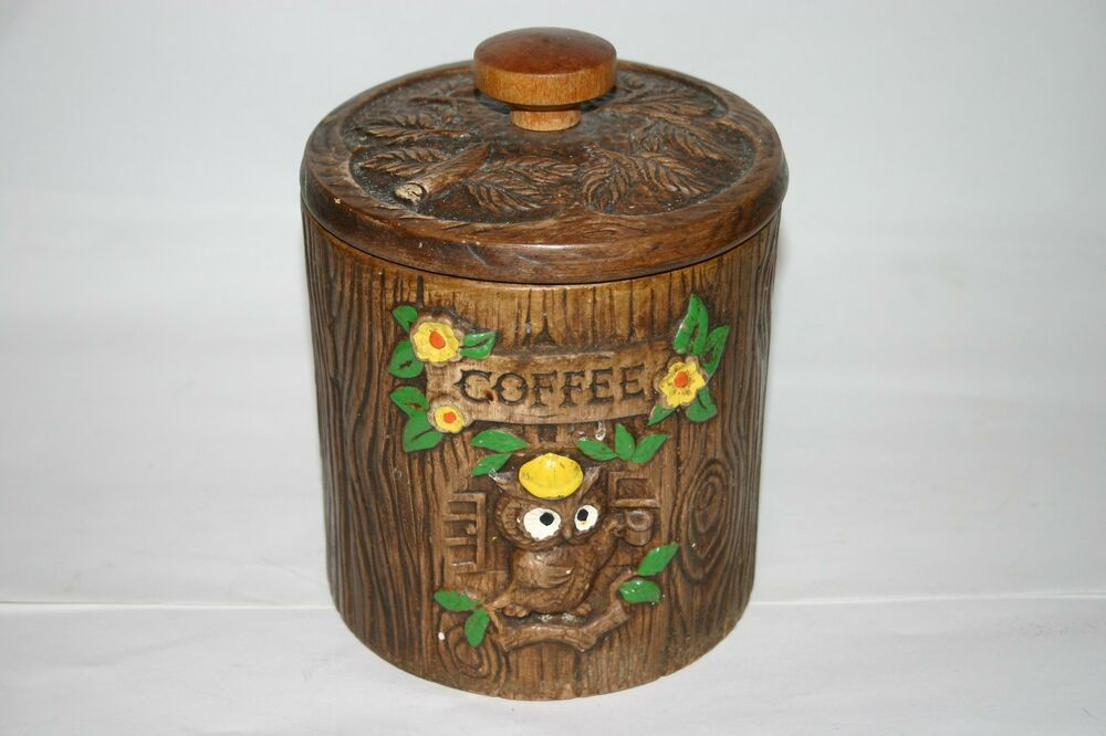 owl kitchen canisters treasure craft owls coffee canister kitchen jar ceramic 14495