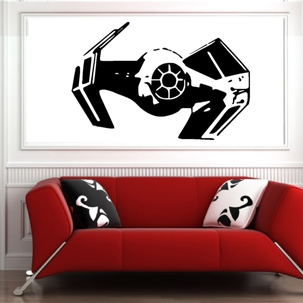 star wars wall decals wars darth vader tie fighter vinyl wall sticker 30090
