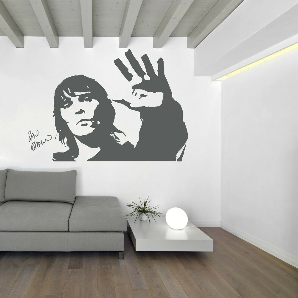 Ian Brown Stone Roses Wall Art Sticker Mural Vinyl Decal Music Stickers Ebay