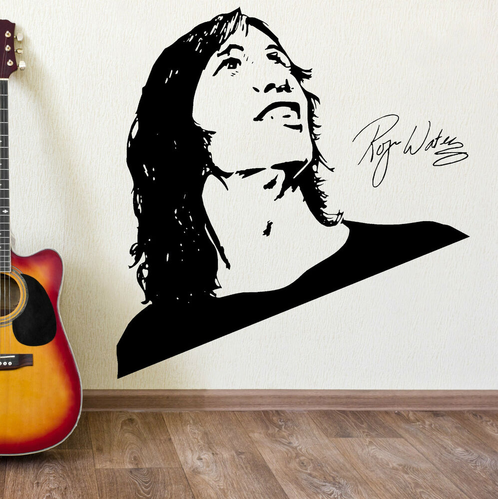 Roger waters pink floyd wall art sticker vinyl decal mural for Pink wall art