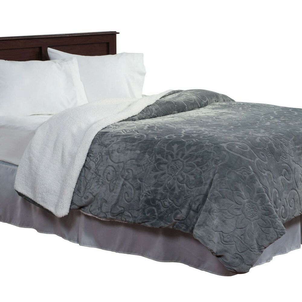 Plush and soft twin floral blanket with cozy sherpa for Soft blankets and throws