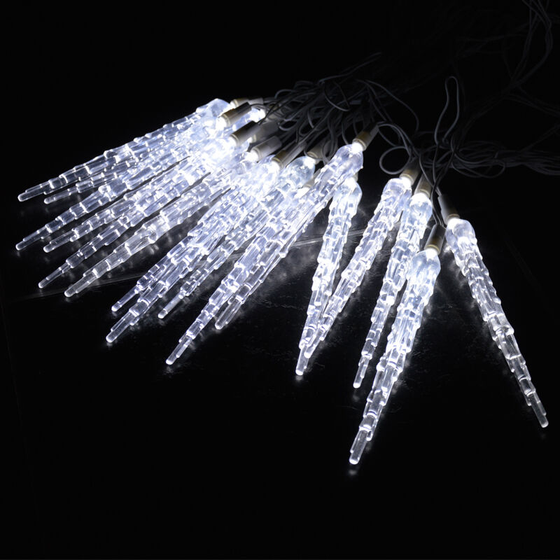 Led Icicle String Lights With Ice Drop : 10 METRE CHRISTMAS ICICLE LIGHTS FROZEN ICICLE DROP EFFECT XMAS LED COOL WHITE eBay