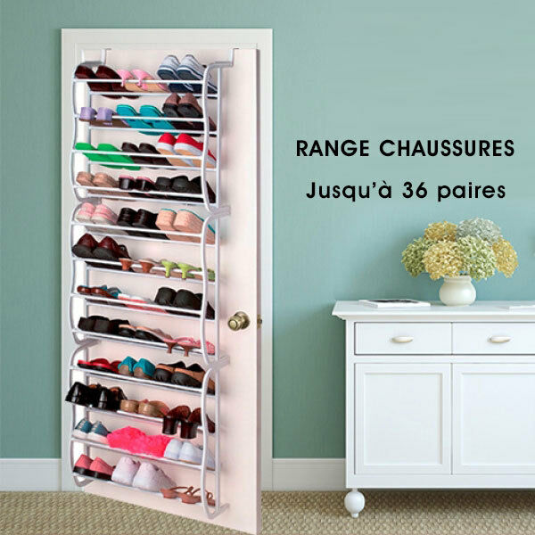 organisateur range chaussures 36 shoes rack paires tag re porte armoire neuf ebay. Black Bedroom Furniture Sets. Home Design Ideas