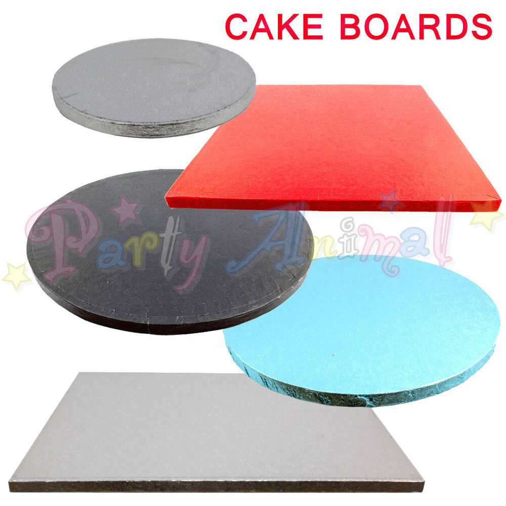 Single Cake Boards Colourful Round Square Thick Drum