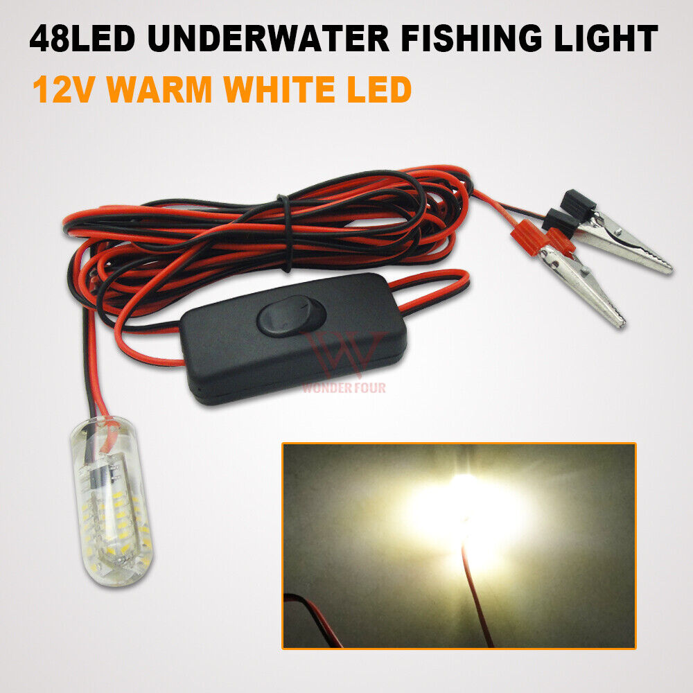 8w green led submersible fishing light underwater bait for Underwater fishing light