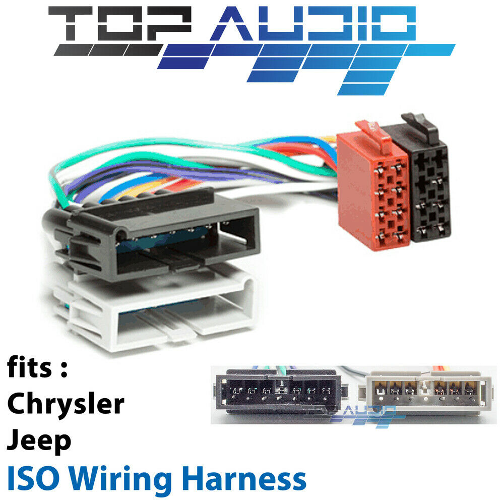 chrysler iso wiring harness stereo radio plug lead loom Sony Car Stereo Wiring Harness Scosche Stereo Wiring Harness
