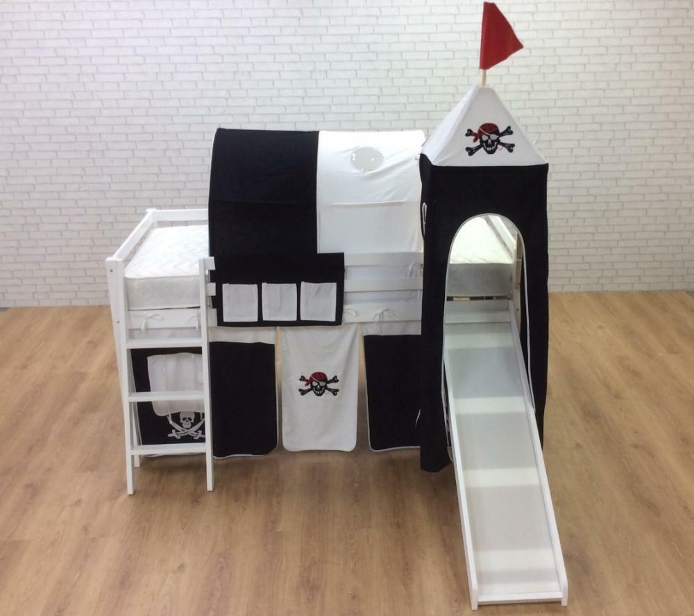 cabin bed with slide pirate undertent turret and tower in. Black Bedroom Furniture Sets. Home Design Ideas
