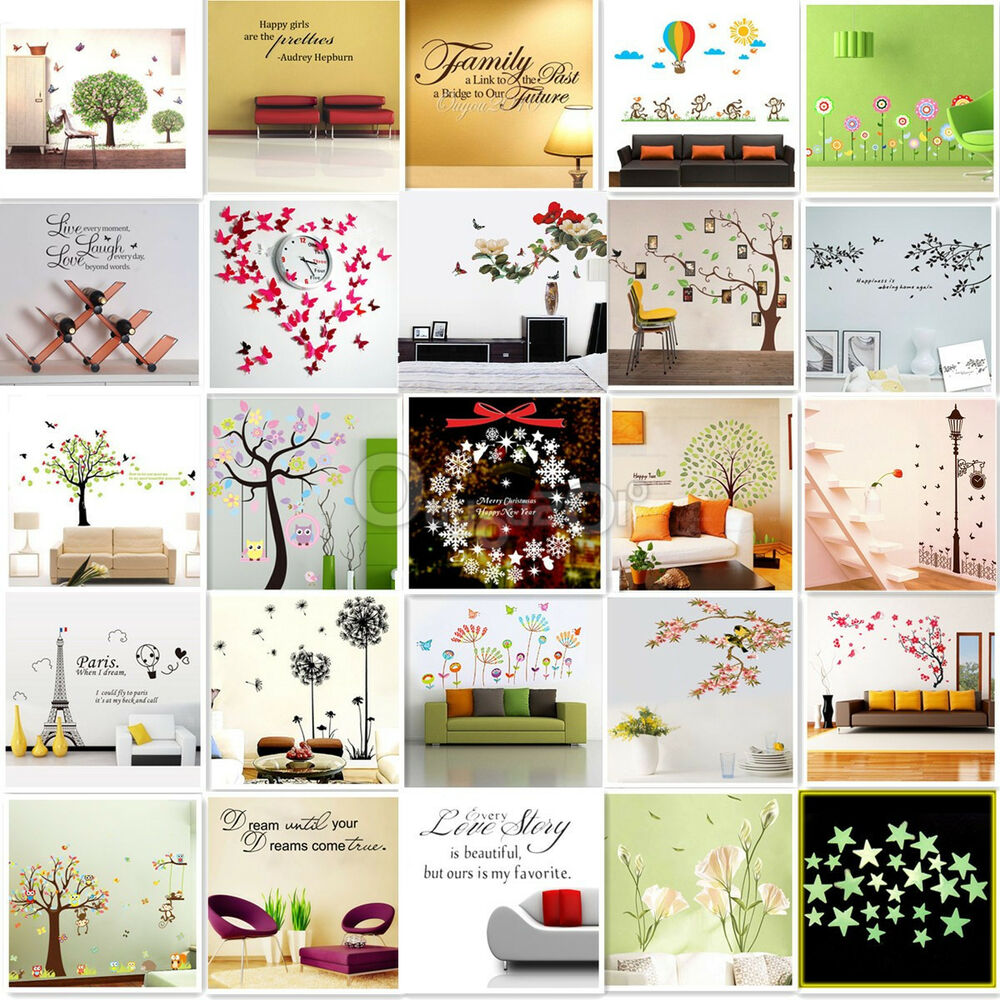 Wall Stickers Removable Decal Transfer Interior Home Art