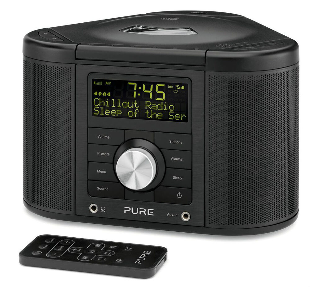 pure chronos cd series 2 dab fm alarm clock radio cd. Black Bedroom Furniture Sets. Home Design Ideas
