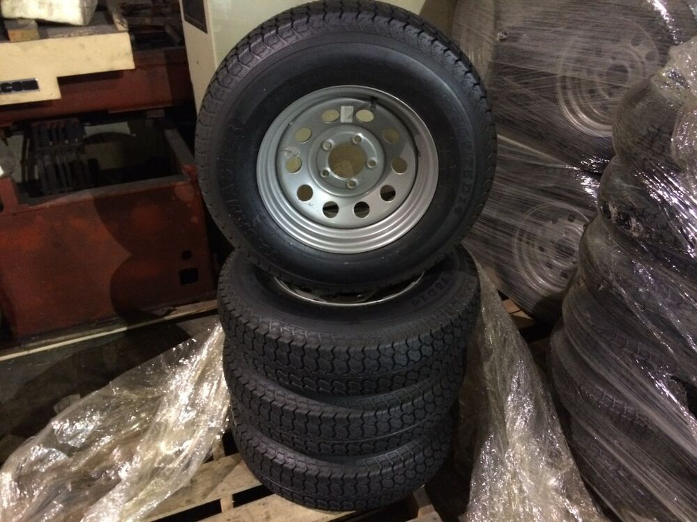 205 75d14 trailer tire with 14 silver mod wheel 14 inch wheel and 2057514 tire ebay. Black Bedroom Furniture Sets. Home Design Ideas