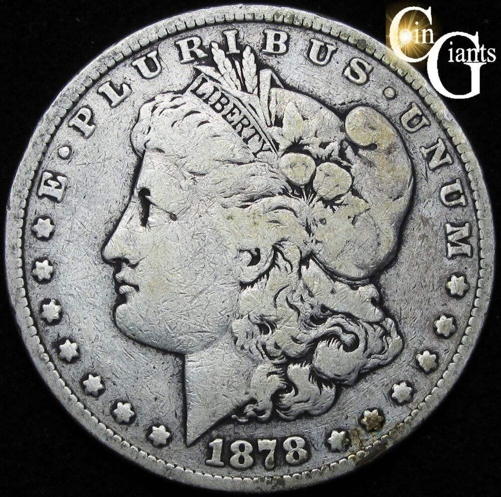 1878 Reverse 79 Morgan Silver Dollar Coin First Year