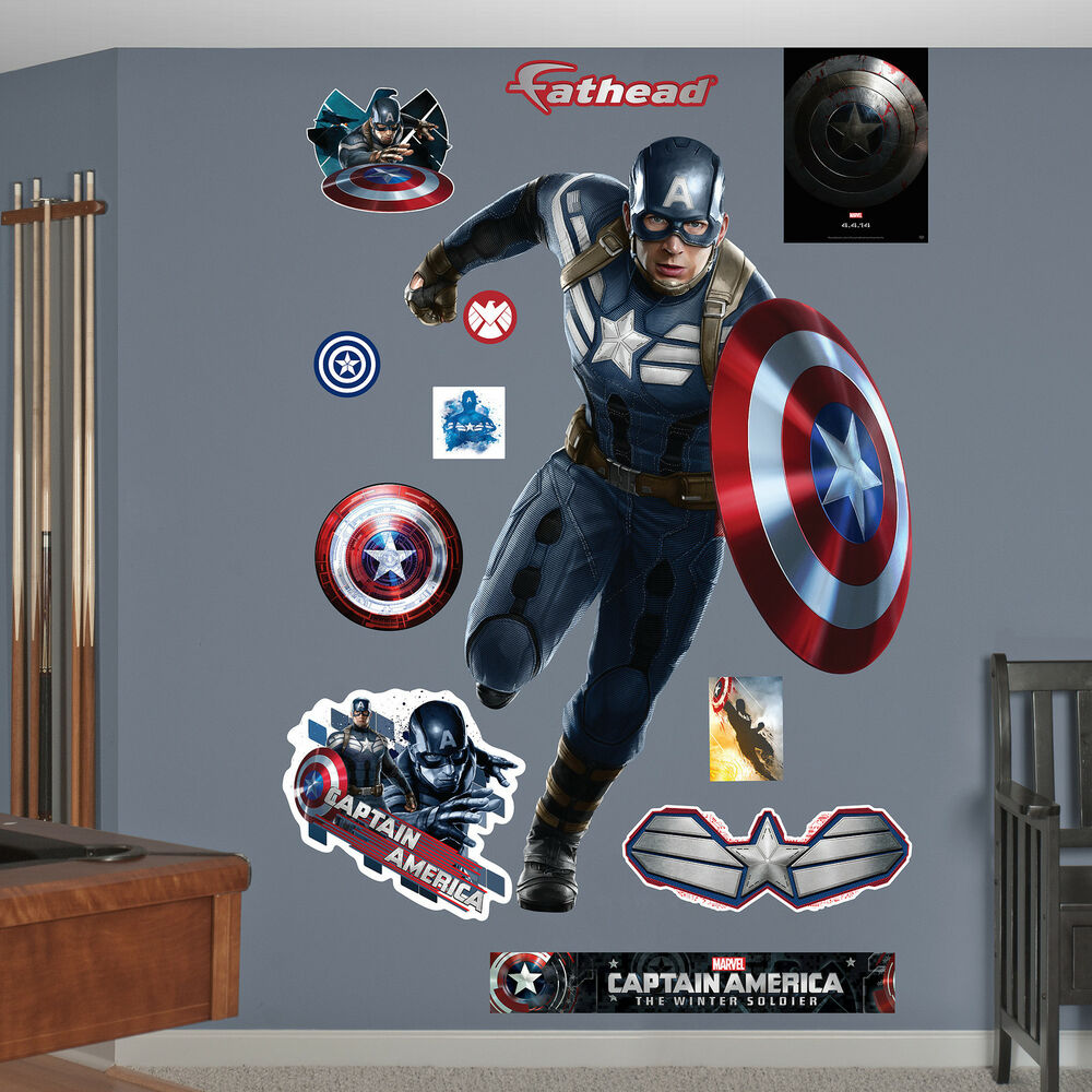 Captain america the winter soldier fathead marvel comics for Avengers wall mural amazon