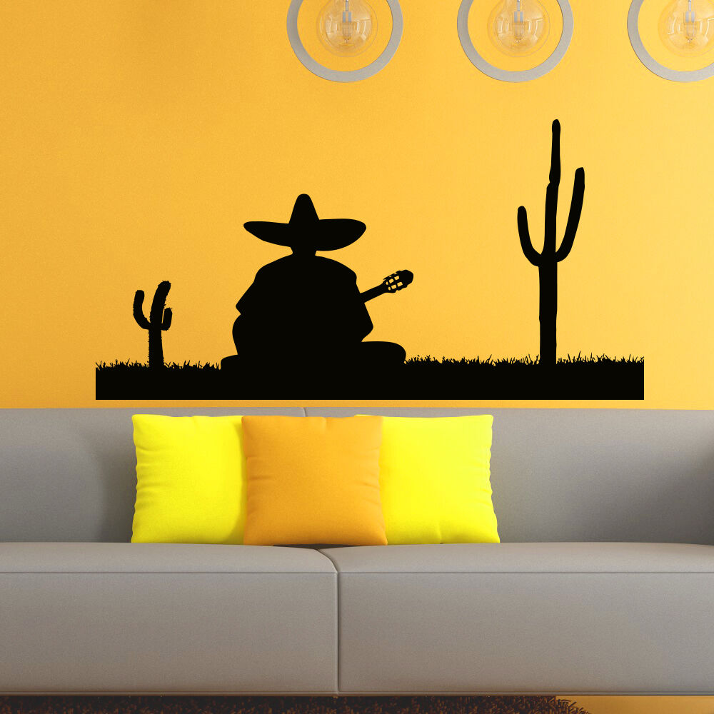 Wall Decals Vinyl Sticker Silhouette Mexican Man Decal
