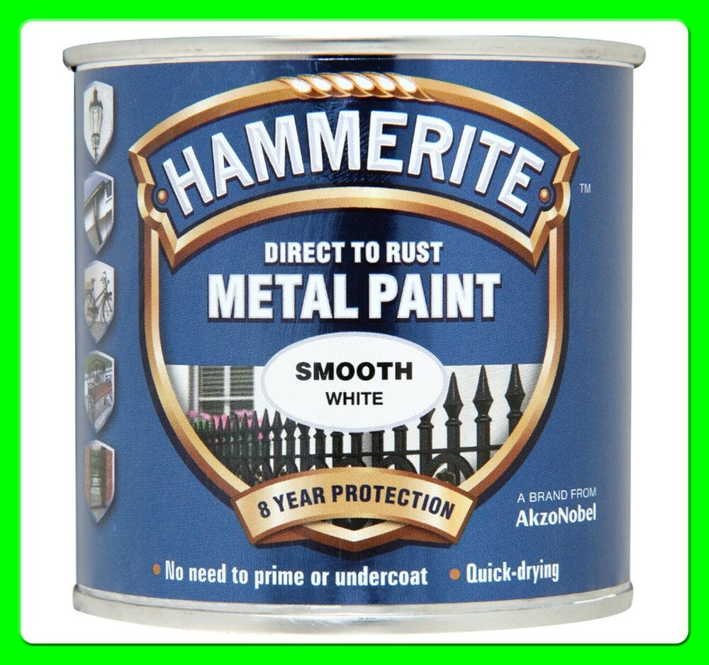 hammerite smooth metal paint white 250ml 6720201 250ml. Black Bedroom Furniture Sets. Home Design Ideas