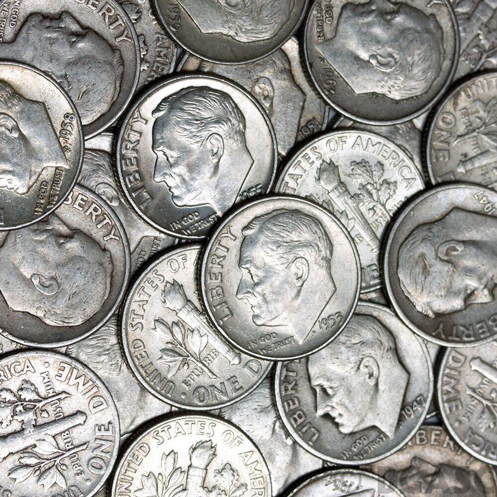 1 2 Troy Pound Lb Bag Mixed 90 Silver Coins U S Minted