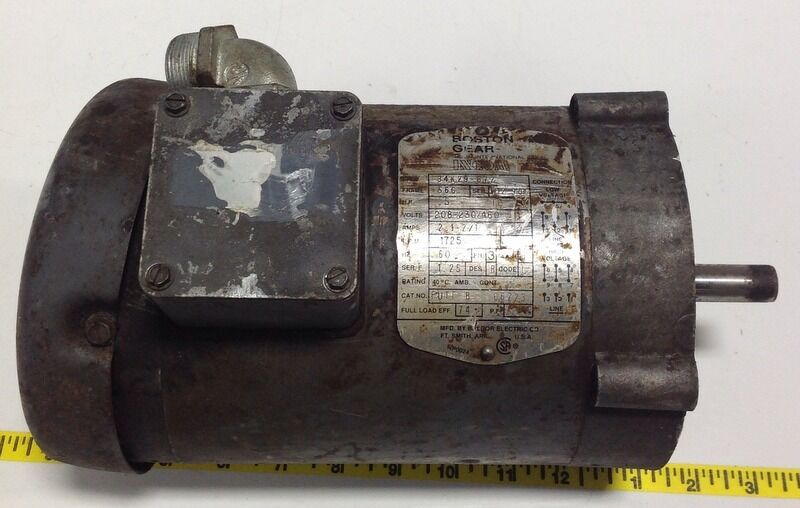 Boston Gear Motor Gear Reducer 34k29 872 Ebay