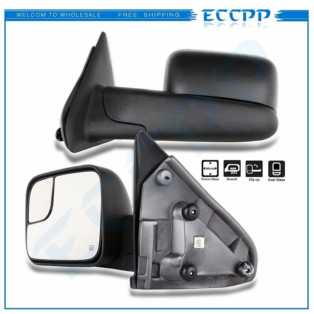For 02 08 Dodge Ram Truck Side View Mirror Power Heated