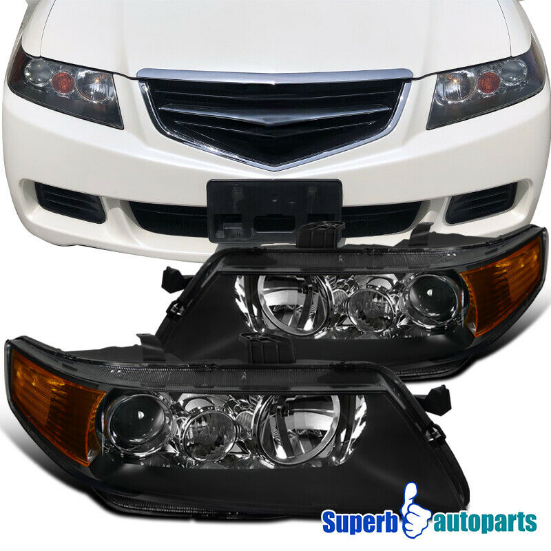 2004-2005 Acura TSX Sedan 4dr Projector Headlights Head
