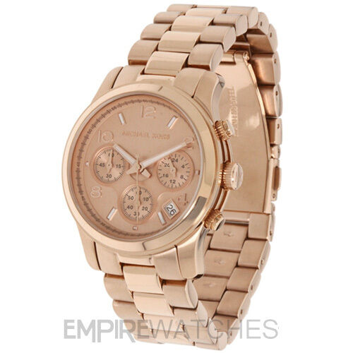 new michael kors ladies runway rose gold chrono watch. Black Bedroom Furniture Sets. Home Design Ideas