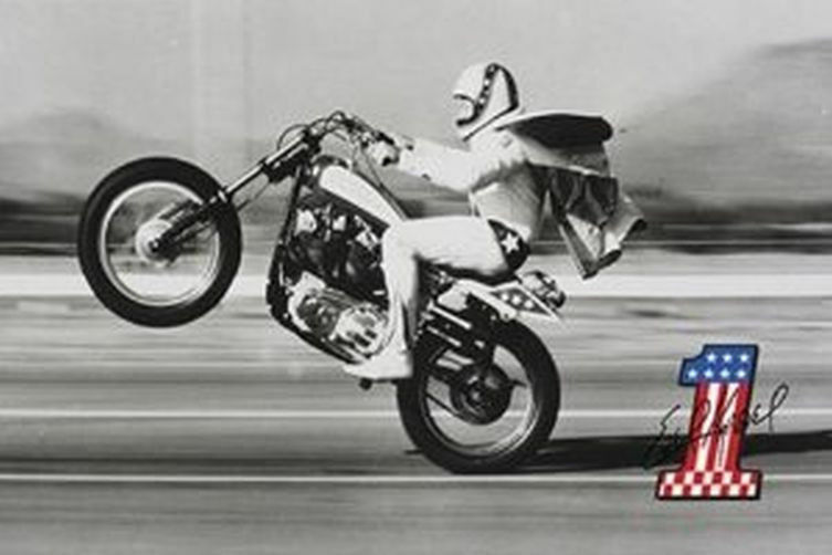 Famous Evel Knievel Bike At Auction: WHEELIE POSTER 24x36