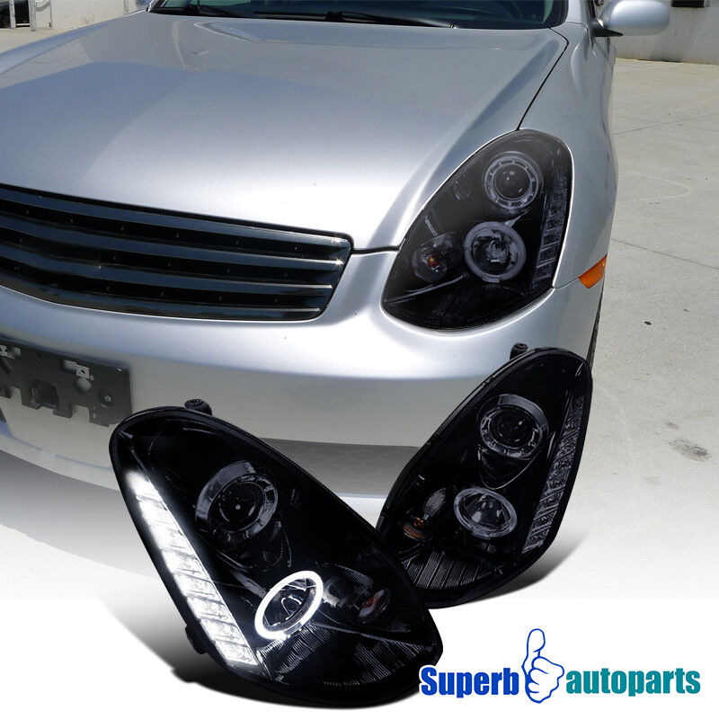 For 2005 2006 G35 4d Sedan Halo Led Drl Projector