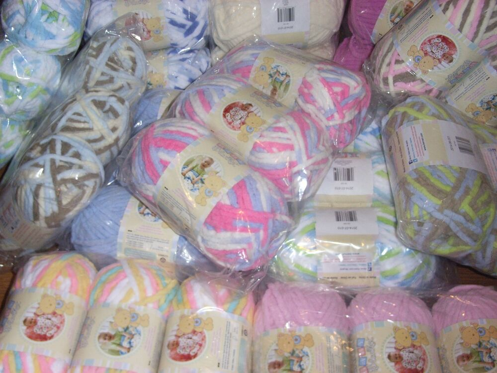 Lot Of 3 Skeins Bernat Baby Blanket Yarn 3 5 Oz Each You