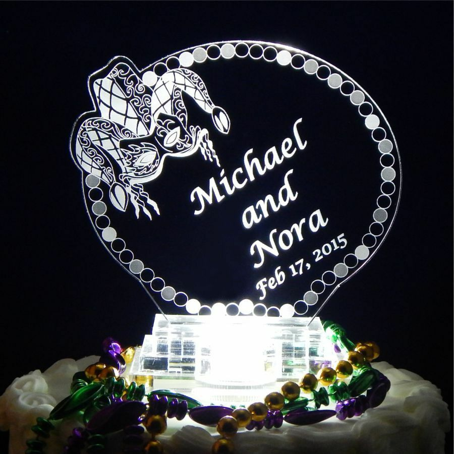 lighted wedding cake toppers mardi gras lighted wedding cake topper jester engraved 16868