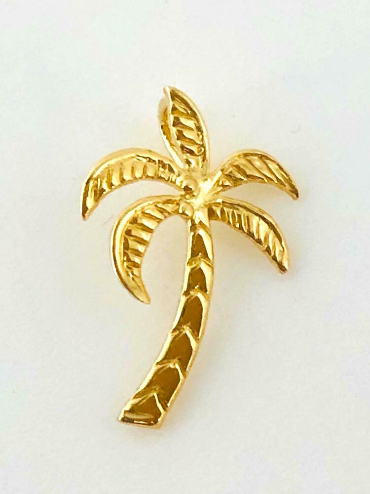 palmtree jewelry 14k gold hawaiian palm tree jewelry width 5 8 length 1 7769