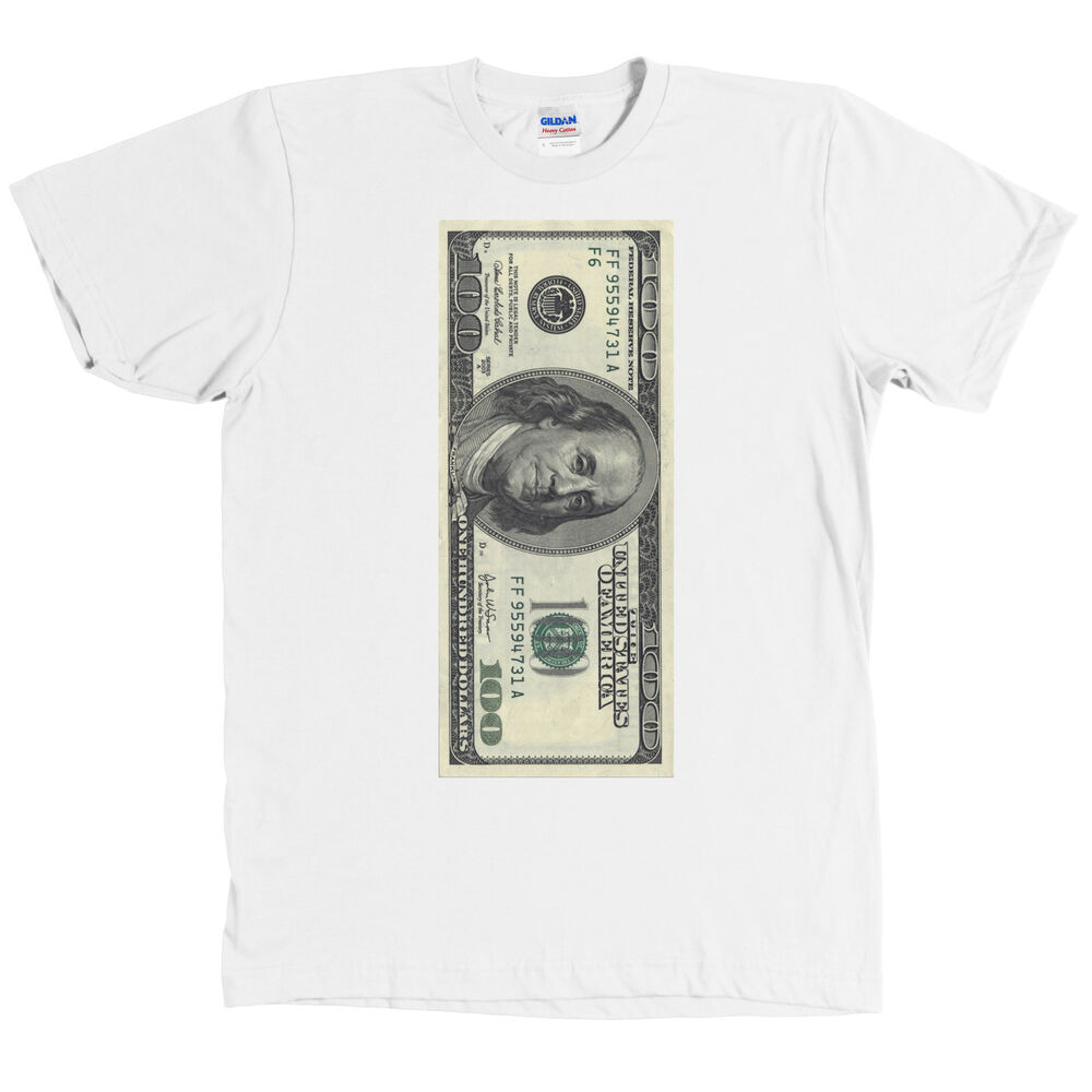 One Hundred Dollar Bill Usd T Shirt 100 Benjamin Franklin