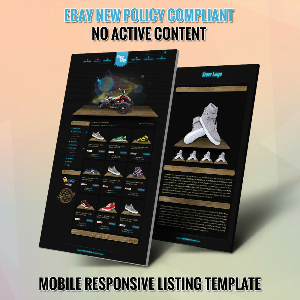 Professional ebay store design template and listing for Ebay store design templates free