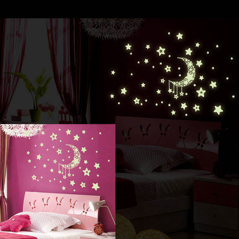 Removable night glow in the dark wall sticker decal room for The room decor