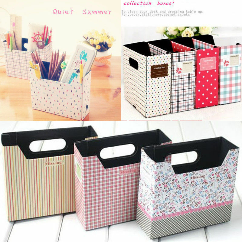 Diy hot makeup cosmetic stationery paper board storage box - Makeup organizer desk ...