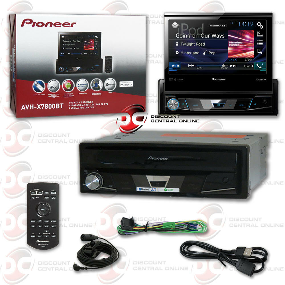 pioneer avh x7800bt 7 flip out touchscreen car dvd cd. Black Bedroom Furniture Sets. Home Design Ideas