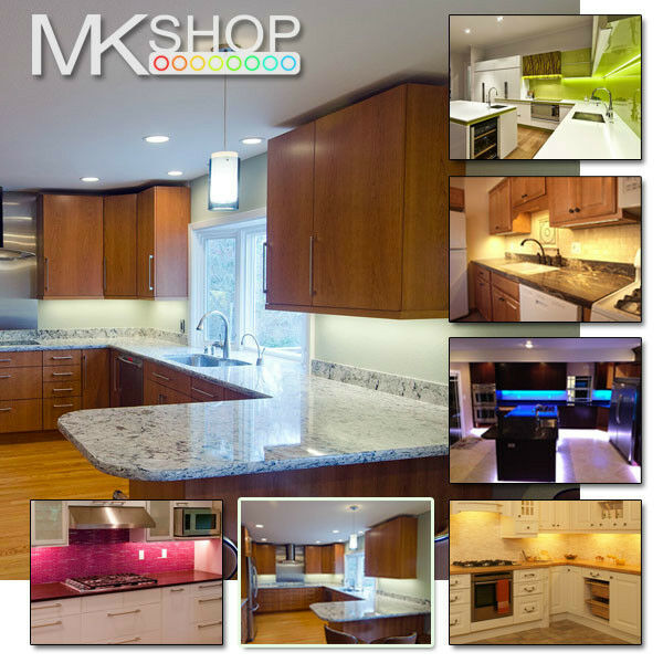 LED Kitchen Under Cabinet Strip Lights Warm & Cool White