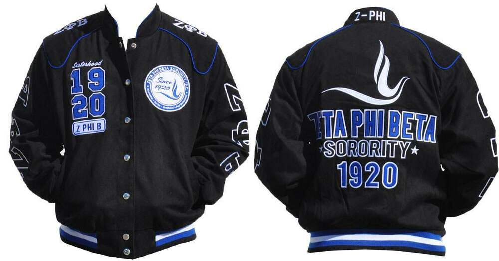 Zeta Phi Beta Letterman Jacket 9