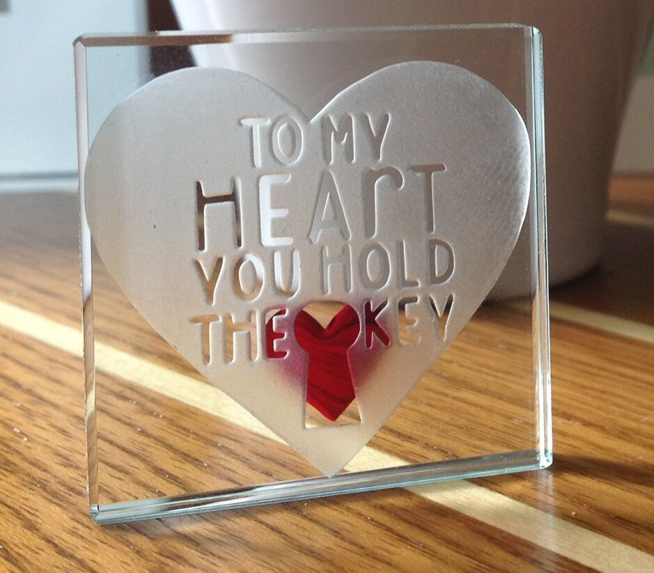 Romantic Ideas For Her: Spaceform To My Heart You Hold The Key Christmas Love Gift